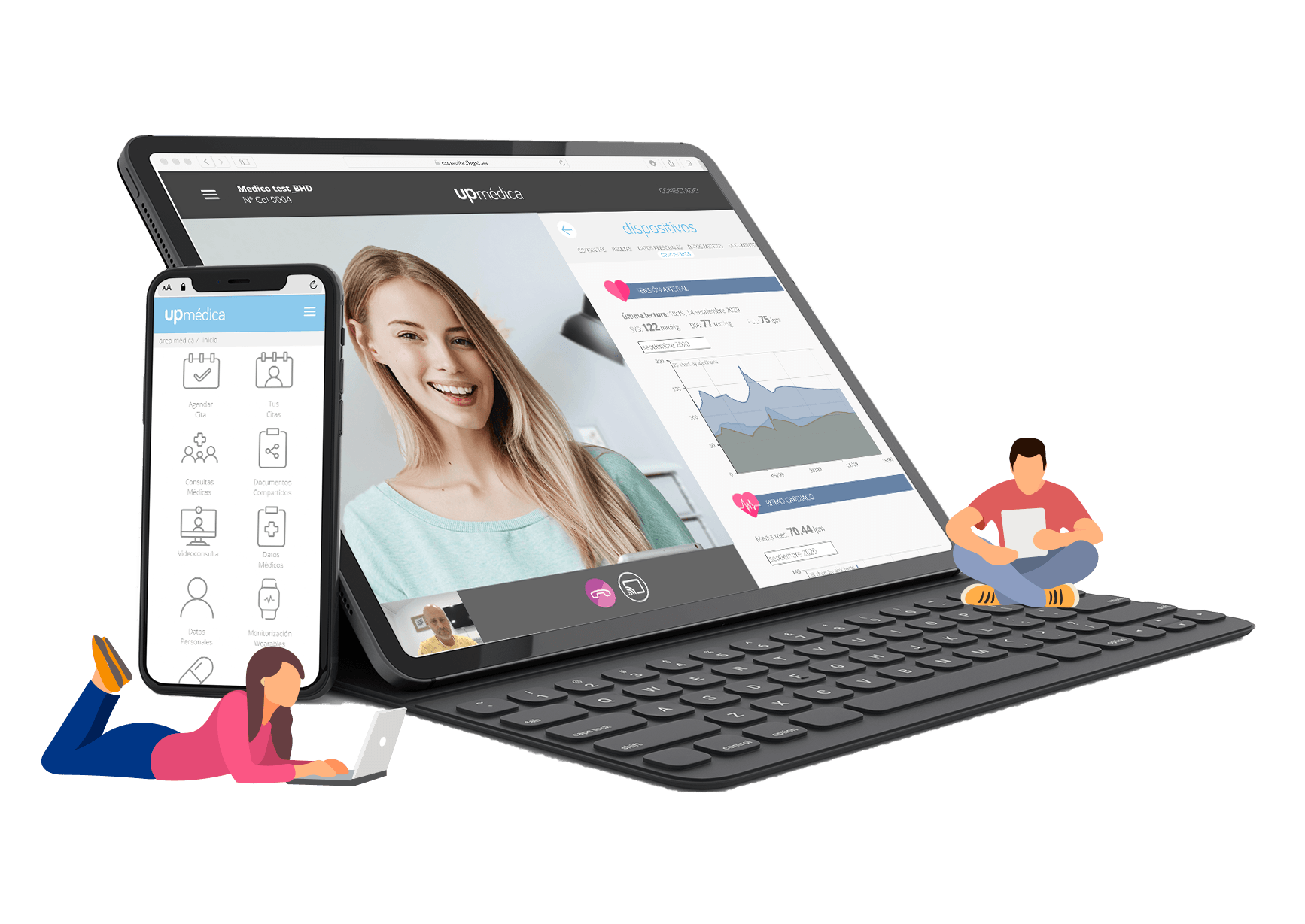 upmedica, plataforma telemedicina - videoconsulta